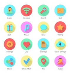 social media icons set with inscriptions vector image vector image