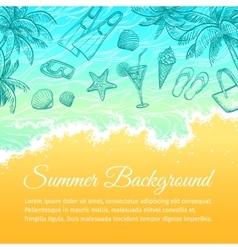 Summer sea background vector image vector image