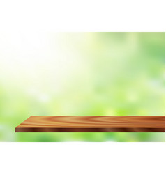 sunlight wood shelf vector image vector image