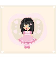 sweet little girl - card vector image vector image