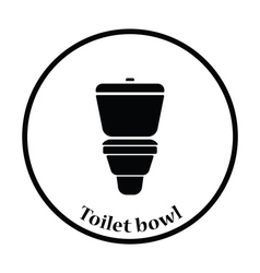Toilet bowl icon vector image