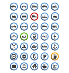 Transportation nautical and travel icons vector