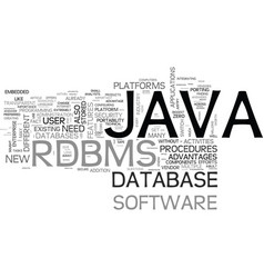 Why java rdbms text word cloud concept vector