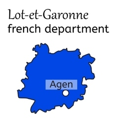 Lot-et-garonne french department map vector
