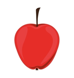 Silhouette color of apple with stem vector