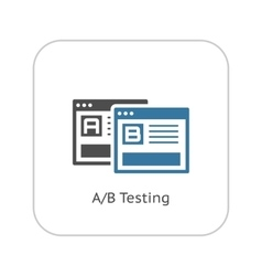 Ab testing icon flat design vector
