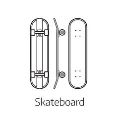 Modern skateboard desk vector