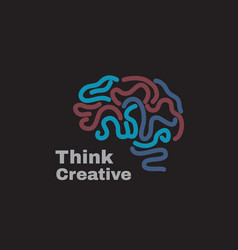 logo brain power vector image