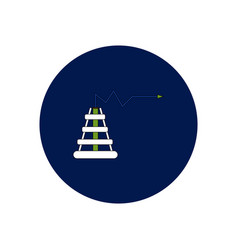 In flat design of oil rig and vector