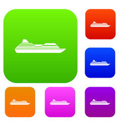 cruise liner set collection vector image