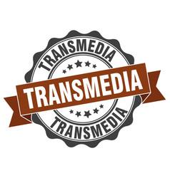 Transmedia stamp sign seal vector