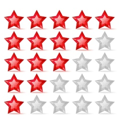 Rating scale with crystal stars vector