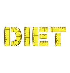 Diet vector image