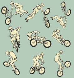 Bmx free style sport collection vector