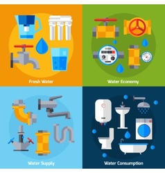 Water supply set vector