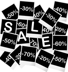 Sale concept with photo frames vector image