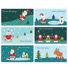 Set of cute christmas banners vector