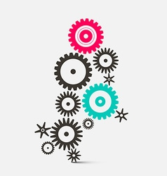 Cogs - gears technology icons vector