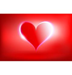 Glowing heart vector