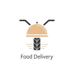 Food delivery logotype like motor scooter vector