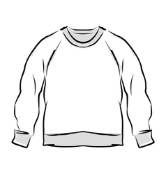 Abstract sweatshirt sketch for your design vector