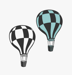 Air balloon transport vector