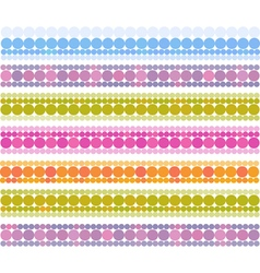 Banner bubble bands in multiple cheerful color vector
