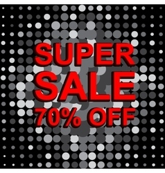 Big sale poster with super sale 70 percent off vector