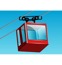 Cable lift car vector