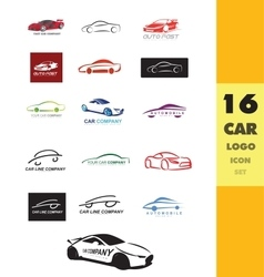 Car auto logo icon vector image