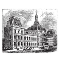 Court house vintage vector
