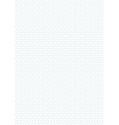 Cyan color hexagon grid on white a4 size vector