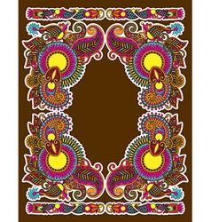 hand draw ornate floral vintage ornate frame vector image vector image