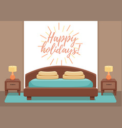 hotel room interior vector image