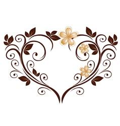 openwork heart vector image vector image