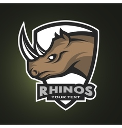 Rhino sports logo emblem vector