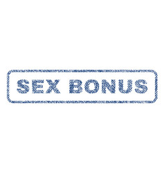 Sex bonus textile stamp vector