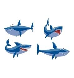 shark character set vector image vector image