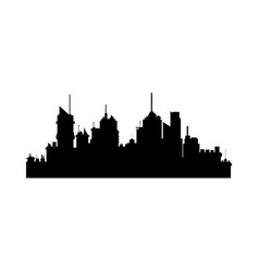Silhouette of city skyline building architecture vector