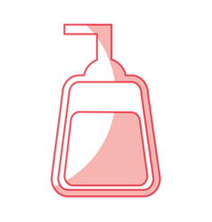 Soap dispenser isolated icon vector