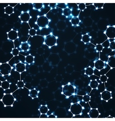 Molecule dna glowing abstract background vector