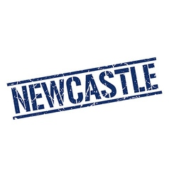Newcastle blue square stamp vector