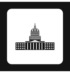 Capitol icon simple style vector