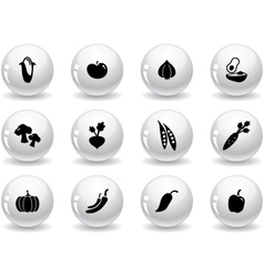 Web buttons vegetables icons vector image