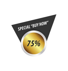 Buy now label design gold silver vector