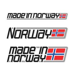 Made in norway vector