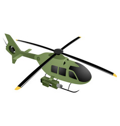 Green military helicopter vector