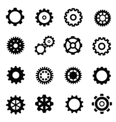 gearwheel mechanism vector image