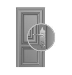 door lock replacement vector image