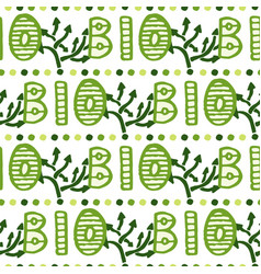 Bio green lettering pattern eco seamless vector